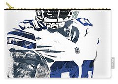 Carry-all Pouch featuring the mixed media Dez Bryant Dallas Cowboys Pixel Art 5 by Joe Hamilton