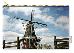Dezwaan Windmill With Fence And Clouds Carry-all Pouch
