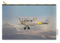 Carry-all Pouch featuring the digital art Dh Tiger Moth - 'first Steps' by Pat Speirs