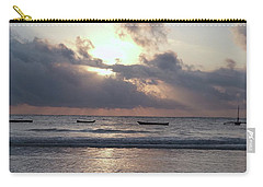 Dhow Wooden Boats At Sunrise 1 Carry-all Pouch