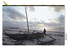 Dhow Wooden Boats At Sunrise With Fisherman Carry-all Pouch