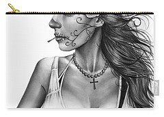 Dia De Los Muertos 1 Carry-all Pouch by Pete Tapang