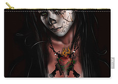 Dia De Los Muertos 3 Carry-all Pouch by Pete Tapang
