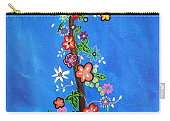 Carry-all Pouch featuring the painting Dia De Los Muertos by Pristine Cartera Turkus