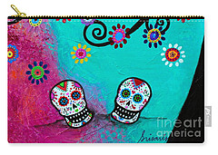 Dia  De Los Muertos Special Couple Carry-all Pouch