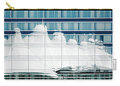 Carry-all Pouch featuring the photograph Dia Hotel Reflection by Joe Bonita