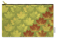 Diagonal Leaf Pattern Carry-all Pouch by Methune Hively