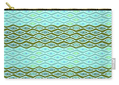 Diamond Bands Aqua Olive Carry-all Pouch