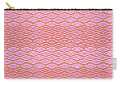 Diamond Bands Salmon Carry-all Pouch