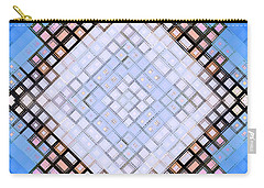 Carry-all Pouch featuring the digital art Diamond Blues by Shawna Rowe