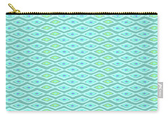 Diamond Eyes Pale Teal Carry-all Pouch