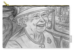 Carry-all Pouch featuring the drawing Diamond Jubilee by Teresa White