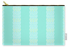 Diamond Rain Teal Stripes Carry-all Pouch