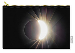 Carry-all Pouch featuring the photograph Diamond Ring With Flare During Solar Eclipse by Lori Coleman