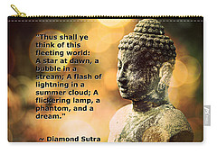 Diamond Sutra Quotation Art Carry-all Pouch by Aurelio Zucco
