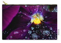 Diamonds On A Pansy Carry-all Pouch