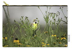 Dickcissel With Mexican Hat Carry-all Pouch by Robert Frederick