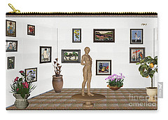 digital exhibition _ Statue of a Statue 22 of posing lady  Carry-all Pouch by Pemaro