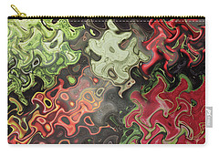 Carry-all Pouch featuring the digital art Digital Graphics Waves Made Of Veggie Salad Kitchen Cuisine Chef Christmas Holidays Birthday Mom Dad by Navin Joshi