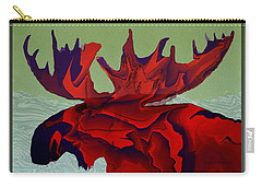 Digital Moose Carry-all Pouch by Kae Cheatham