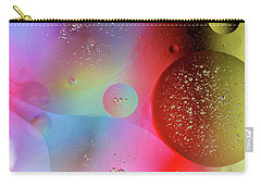 Carry-all Pouch featuring the photograph Digital Oil Drop Abstract by John Williams