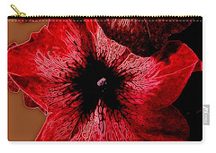 Digital Petunia Carry-all Pouch