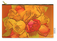 Digital  Rose Bouquet Painting Carry-all Pouch