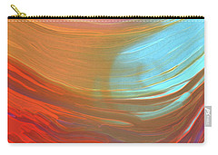 Digital Watercolor Abstract 031417 Carry-all Pouch by Matt Lindley