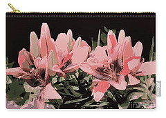 Digitalized Lilies Carry-all Pouch