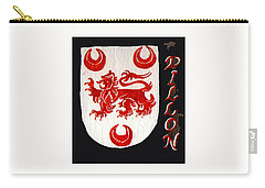 Carry-all Pouch featuring the painting Dillon Family Shield by Barbara McDevitt