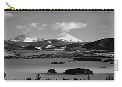 Carry-all Pouch featuring the photograph Dillon In Winter Bw by Marie Leslie
