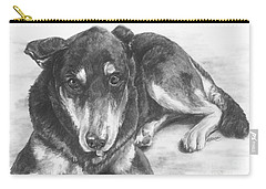 Carry-all Pouch featuring the drawing Dillon by Meagan  Visser