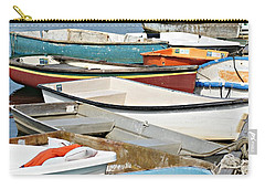 Dinghys At Bearskin Neck Carry-all Pouch by Joe Faherty
