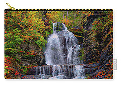 Dingmans Falls In Autumn 2 Carry-all Pouch by Raymond Salani III