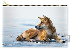 Dingo On Fraser Island Beach Carry-all Pouch