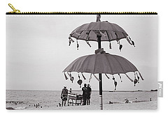 Carry-all Pouch featuring the photograph Dinner On The Beach by Cassandra Buckley