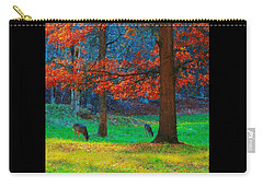 Dinner Under The Trees Carry-all Pouch by Steve Warnstaff