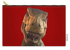 Carry-all Pouch featuring the photograph Dino Hello by Charles Kraus