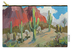 Carry-all Pouch featuring the painting Dinosaur Mountain by Diane McClary