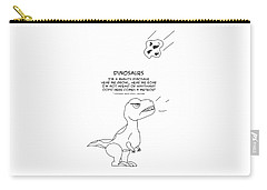 Carry-all Pouch featuring the drawing Dinosaurs by John Haldane