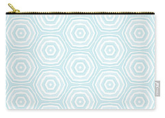 Dip In The Pool -  Pattern Art By Linda Woods Carry-all Pouch by Linda Woods