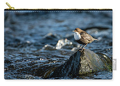 Dipper On The Rock Carry-all Pouch by Torbjorn Swenelius