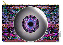 Carry-all Pouch featuring the digital art Direct Link by Iowan Stone-Flowers