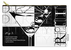 Dirty Dirty Martini Chechered Carry-all Pouch by Jon Neidert