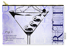Dirty Dirty Martini Patent Blueprint Carry-all Pouch by Jon Neidert
