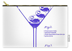 Dirty Martini Blueprint Carry-all Pouch by Jon Neidert