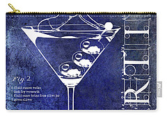 Dirty Martini Patent Blue Carry-all Pouch by Jon Neidert