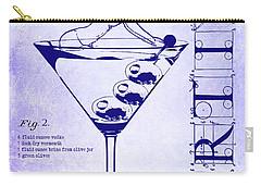Dirty Martini Patent Blueprint Carry-all Pouch by Jon Neidert