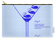 Dirty Martini Patent Carry-all Pouch by Jon Neidert