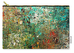 Carry-all Pouch featuring the painting Discovery - Abstract Art by Carmen Guedez